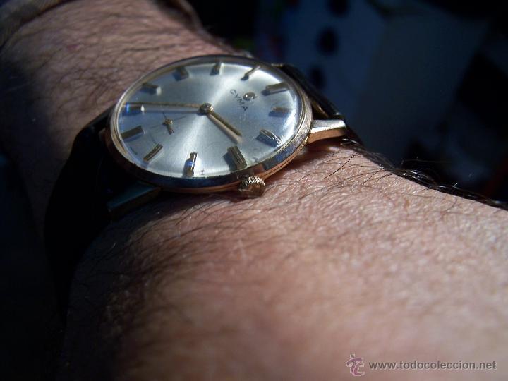 Relojes de pulsera: Antiguo reloj de pulsera de carga manual y de caballero Cyma Syncrhon 35 - Foto 36 - 41764012