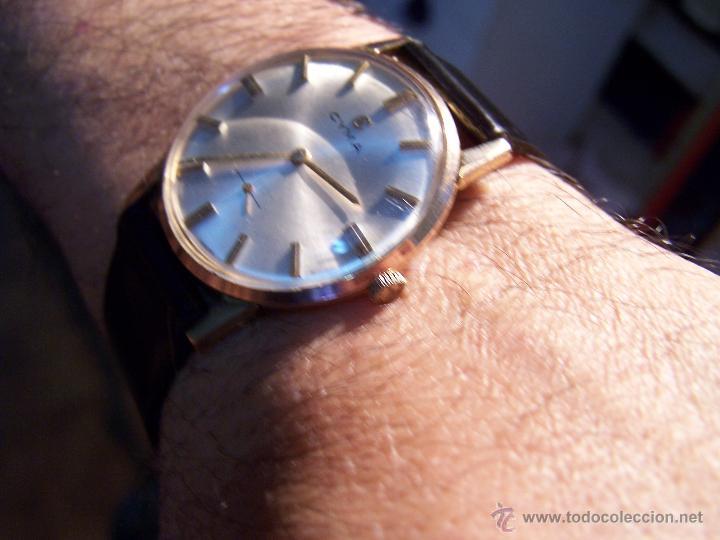 Relojes de pulsera: Antiguo reloj de pulsera de carga manual y de caballero Cyma Syncrhon 35 - Foto 37 - 41764012