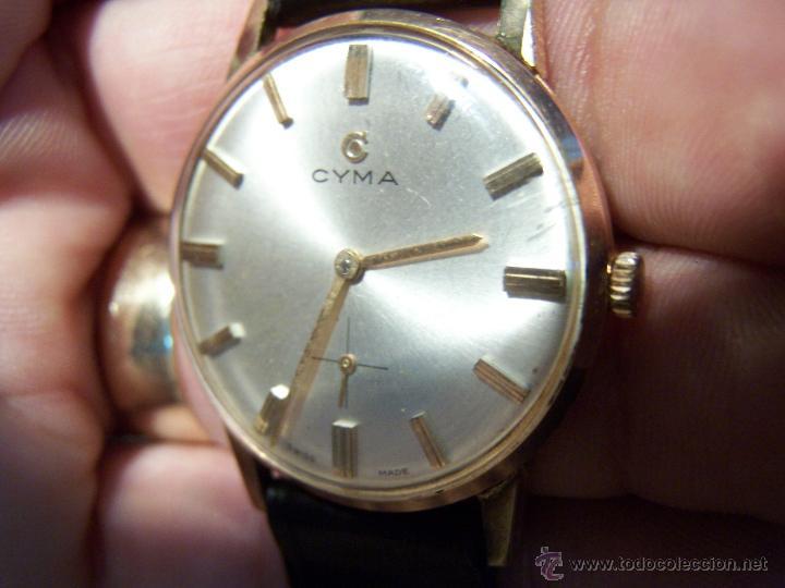 Relojes de pulsera: Antiguo reloj de pulsera de carga manual y de caballero Cyma Syncrhon 35 - Foto 38 - 41764012
