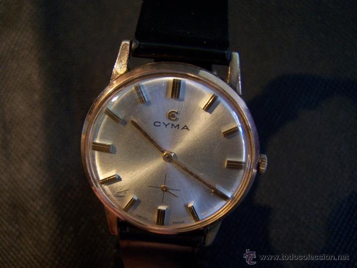 Relojes de pulsera: Antiguo reloj de pulsera de carga manual y de caballero Cyma Syncrhon 35 - Foto 39 - 41764012