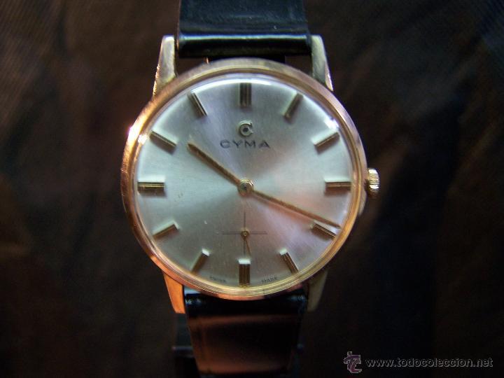 Relojes de pulsera: Antiguo reloj de pulsera de carga manual y de caballero Cyma Syncrhon 35 - Foto 41 - 41764012