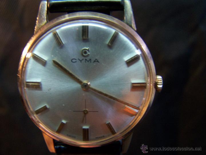 Relojes de pulsera: Antiguo reloj de pulsera de carga manual y de caballero Cyma Syncrhon 35 - Foto 42 - 41764012