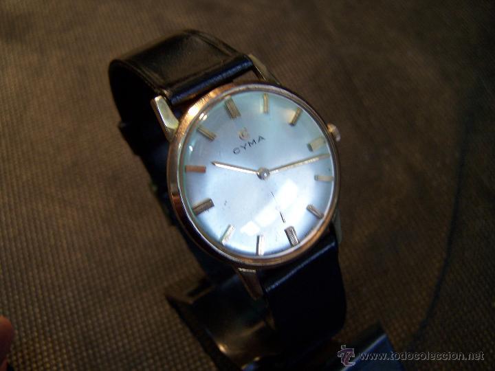 Relojes de pulsera: Antiguo reloj de pulsera de carga manual y de caballero Cyma Syncrhon 35 - Foto 43 - 41764012