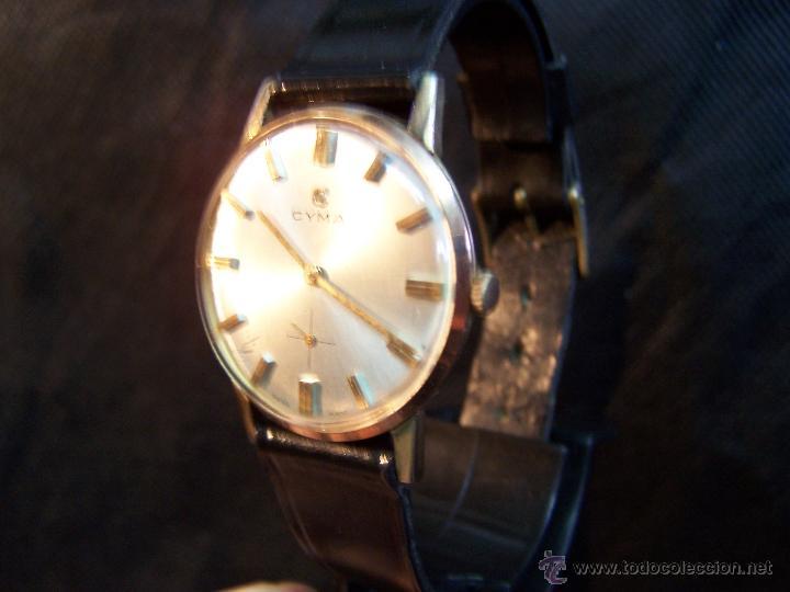 Relojes de pulsera: Antiguo reloj de pulsera de carga manual y de caballero Cyma Syncrhon 35 - Foto 44 - 41764012