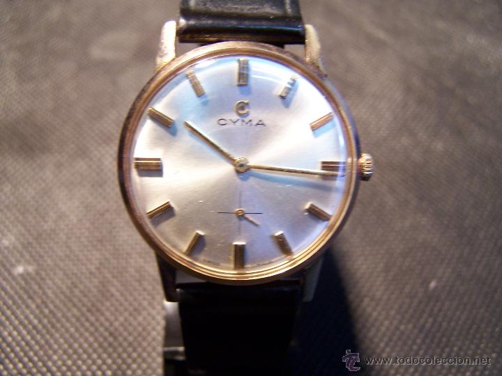 Relojes de pulsera: Antiguo reloj de pulsera de carga manual y de caballero Cyma Syncrhon 35 - Foto 45 - 41764012
