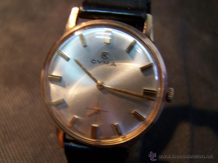 Relojes de pulsera: Antiguo reloj de pulsera de carga manual y de caballero Cyma Syncrhon 35 - Foto 46 - 41764012