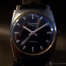Relojes de pulsera: ANTIGUO RELOJ DE PULSERA DE CARGA MANUAL GIGANDEL CON ESFERA AZUL. Lote 41993244