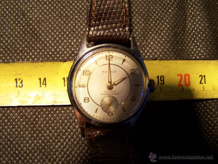 Relojes de pulsera: Antiguo reloj de pulsera de carga manual, ANKER - Foto 27 - 42036842
