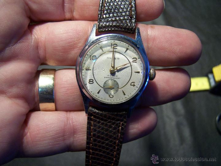 Relojes de pulsera: Antiguo reloj de pulsera de carga manual, ANKER - Foto 28 - 42036842
