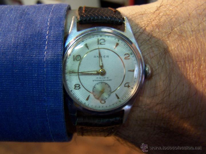 Relojes de pulsera: Antiguo reloj de pulsera de carga manual, ANKER - Foto 29 - 42036842