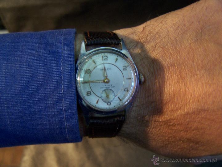 Relojes de pulsera: Antiguo reloj de pulsera de carga manual, ANKER - Foto 31 - 42036842
