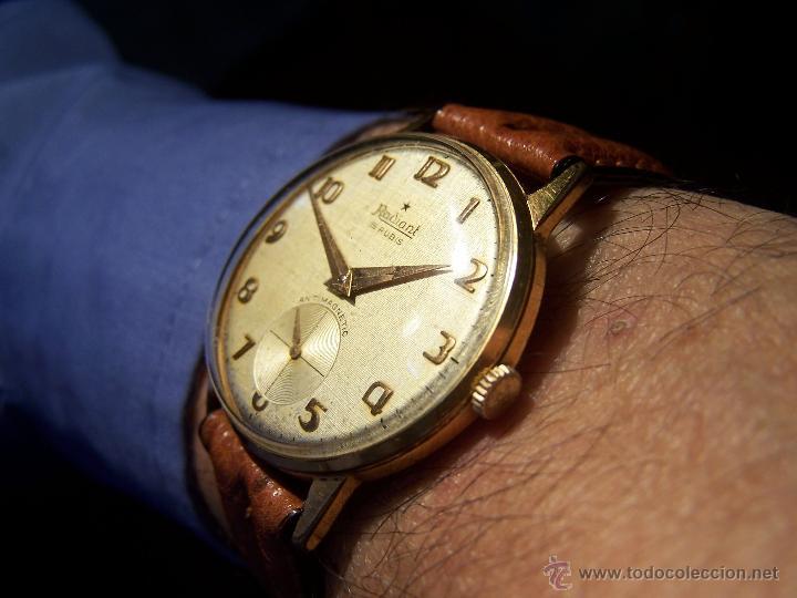 PRECIOSO Y ANTIGUO RELOJ RADIANT DE CARGA MANUAL CON ESTRELLA DE 5 PUNTAS (Relojes - Pulsera Carga Manual)