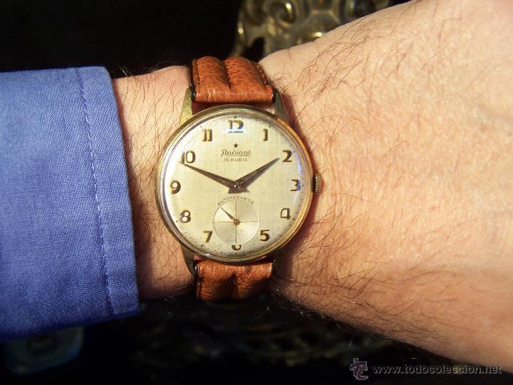 Relojes de pulsera: Precioso y antiguo reloj Radiant de carga manual con estrella de 5 puntas - Foto 5 - 42180956