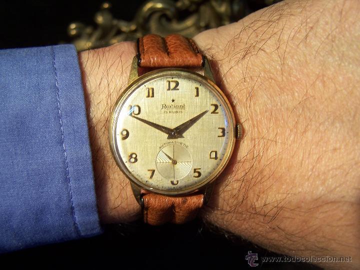 Relojes de pulsera: Precioso y antiguo reloj Radiant de carga manual con estrella de 5 puntas - Foto 6 - 42180956