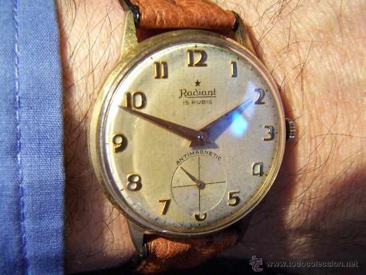 Relojes de pulsera: Precioso y antiguo reloj Radiant de carga manual con estrella de 5 puntas - Foto 7 - 42180956