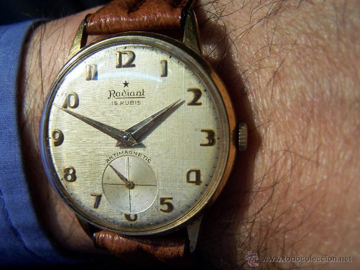 Relojes de pulsera: Precioso y antiguo reloj Radiant de carga manual con estrella de 5 puntas - Foto 8 - 42180956