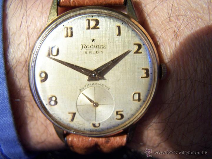 Relojes de pulsera: Precioso y antiguo reloj Radiant de carga manual con estrella de 5 puntas - Foto 9 - 42180956
