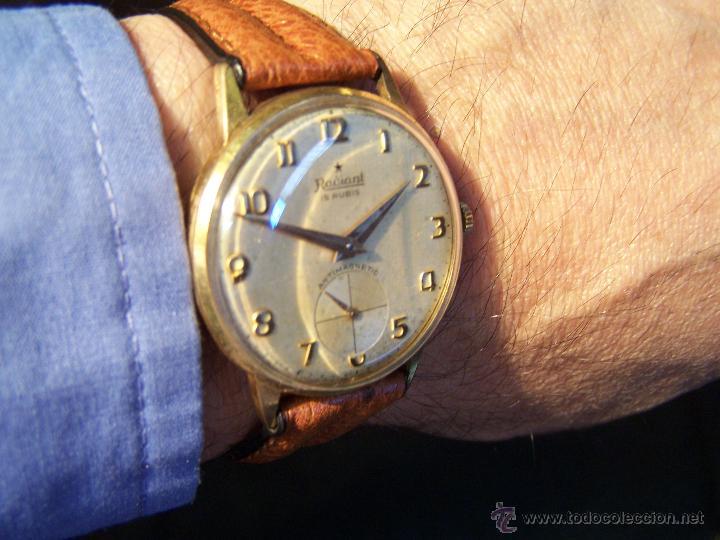 Relojes de pulsera: Precioso y antiguo reloj Radiant de carga manual con estrella de 5 puntas - Foto 11 - 42180956