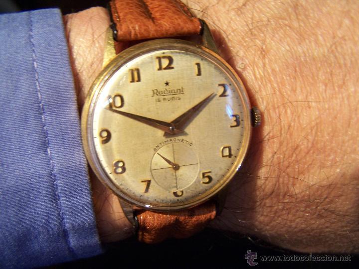 Relojes de pulsera: Precioso y antiguo reloj Radiant de carga manual con estrella de 5 puntas - Foto 12 - 42180956