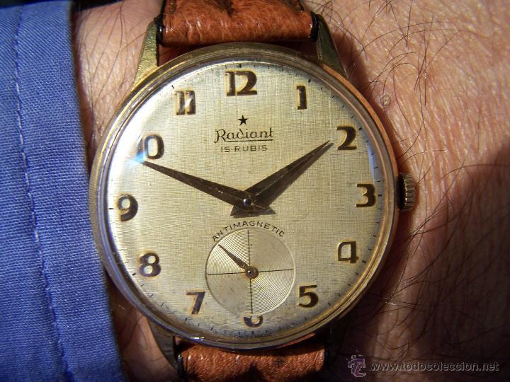 Relojes de pulsera: Precioso y antiguo reloj Radiant de carga manual con estrella de 5 puntas - Foto 13 - 42180956