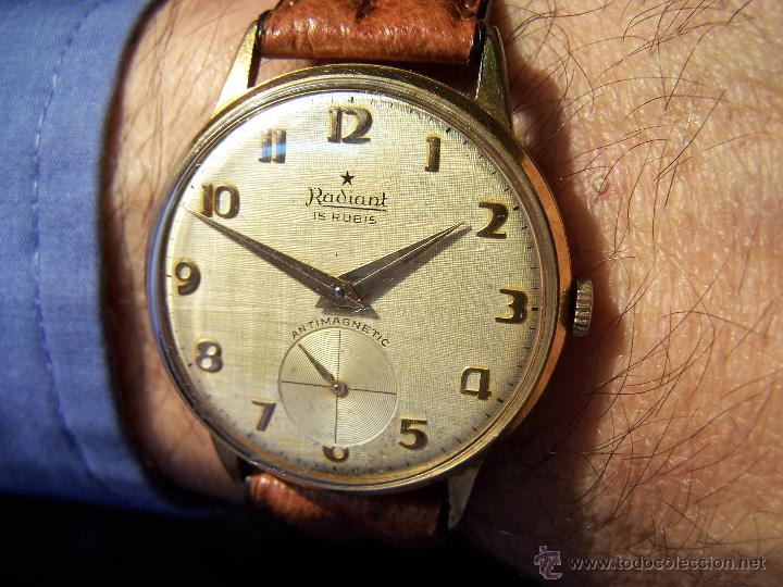 Relojes de pulsera: Precioso y antiguo reloj Radiant de carga manual con estrella de 5 puntas - Foto 15 - 42180956