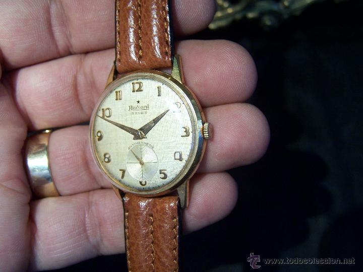 Relojes de pulsera: Precioso y antiguo reloj Radiant de carga manual con estrella de 5 puntas - Foto 17 - 42180956