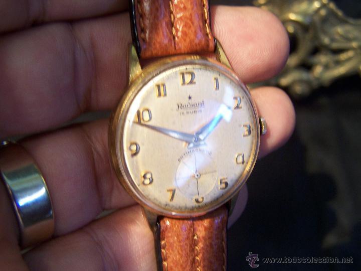 Relojes de pulsera: Precioso y antiguo reloj Radiant de carga manual con estrella de 5 puntas - Foto 18 - 42180956