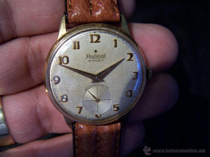 Relojes de pulsera: Precioso y antiguo reloj Radiant de carga manual con estrella de 5 puntas - Foto 19 - 42180956