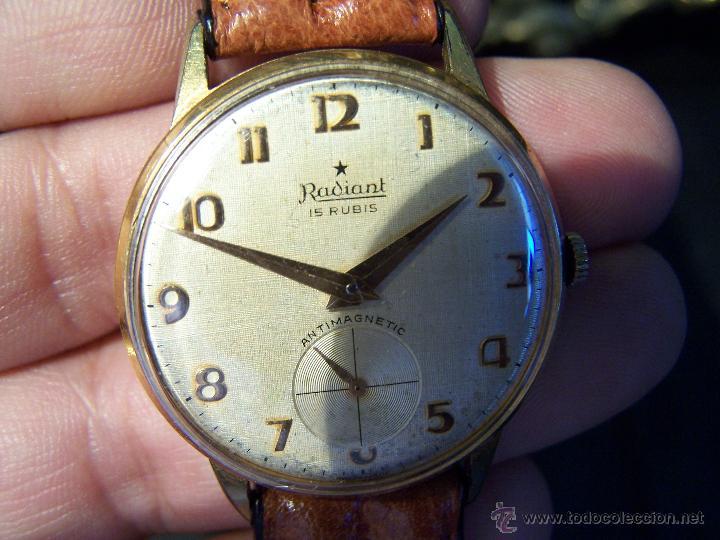 Relojes de pulsera: Precioso y antiguo reloj Radiant de carga manual con estrella de 5 puntas - Foto 20 - 42180956