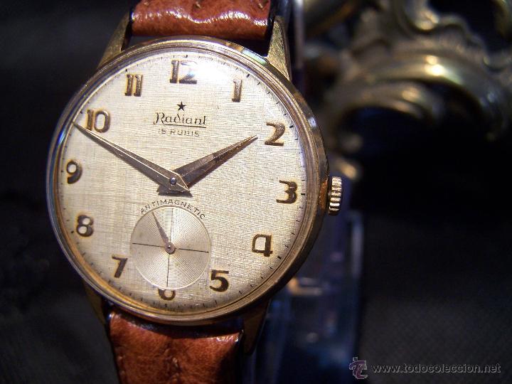 Relojes de pulsera: Precioso y antiguo reloj Radiant de carga manual con estrella de 5 puntas - Foto 22 - 42180956