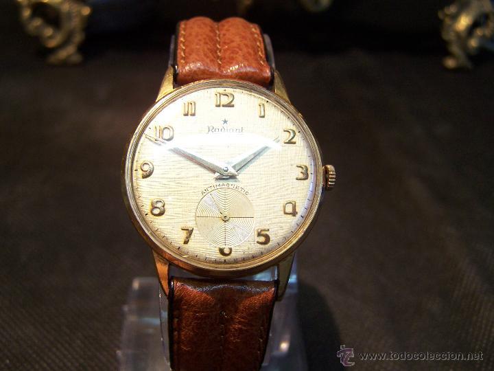 Relojes de pulsera: Precioso y antiguo reloj Radiant de carga manual con estrella de 5 puntas - Foto 23 - 42180956