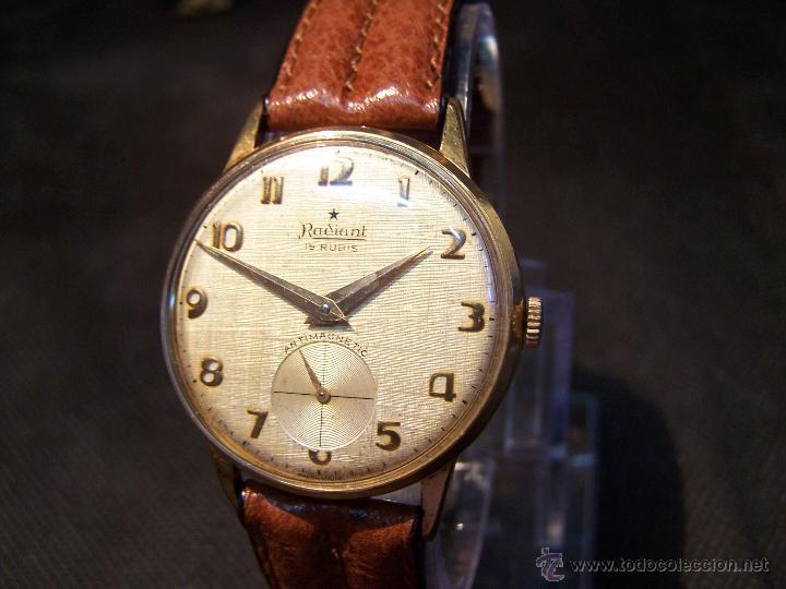 Relojes de pulsera: Precioso y antiguo reloj Radiant de carga manual con estrella de 5 puntas - Foto 24 - 42180956