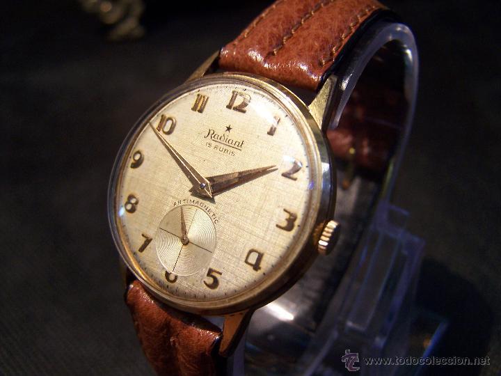 Relojes de pulsera: Precioso y antiguo reloj Radiant de carga manual con estrella de 5 puntas - Foto 25 - 42180956