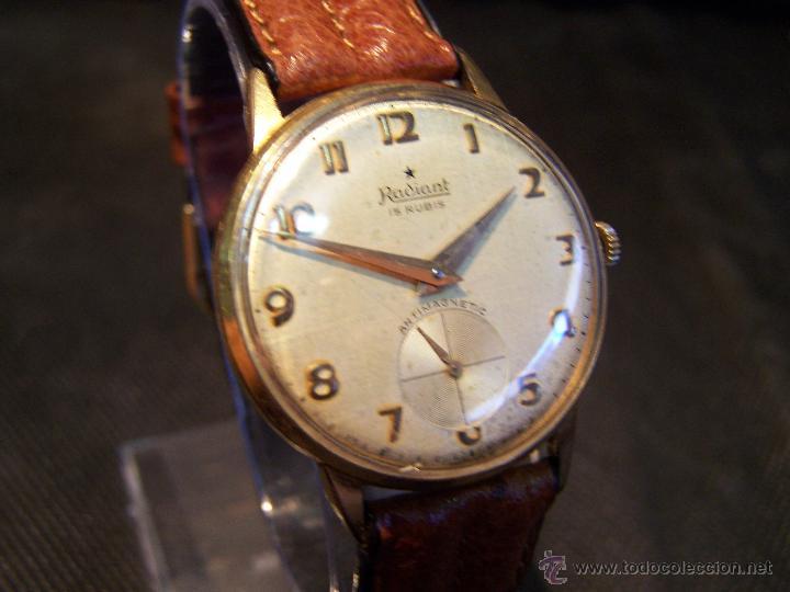 Relojes de pulsera: Precioso y antiguo reloj Radiant de carga manual con estrella de 5 puntas - Foto 26 - 42180956