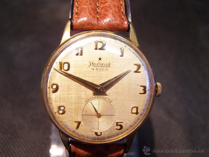 Relojes de pulsera: Precioso y antiguo reloj Radiant de carga manual con estrella de 5 puntas - Foto 27 - 42180956