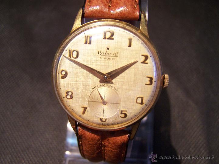 Relojes de pulsera: Precioso y antiguo reloj Radiant de carga manual con estrella de 5 puntas - Foto 28 - 42180956