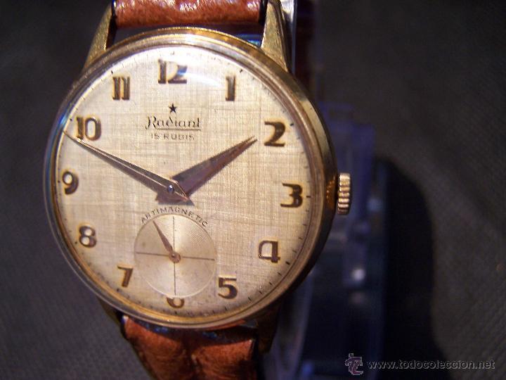 Relojes de pulsera: Precioso y antiguo reloj Radiant de carga manual con estrella de 5 puntas - Foto 29 - 42180956