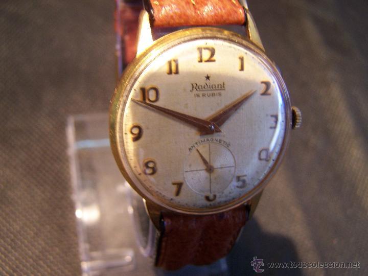 Relojes de pulsera: Precioso y antiguo reloj Radiant de carga manual con estrella de 5 puntas - Foto 30 - 42180956