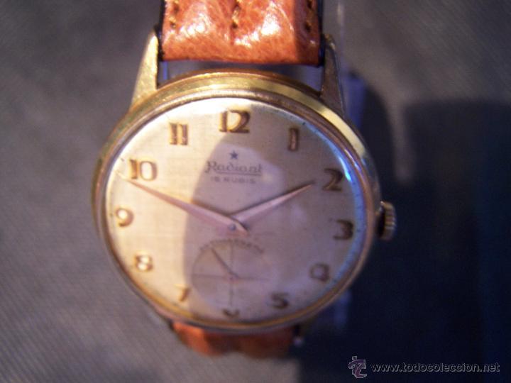 Relojes de pulsera: Precioso y antiguo reloj Radiant de carga manual con estrella de 5 puntas - Foto 31 - 42180956