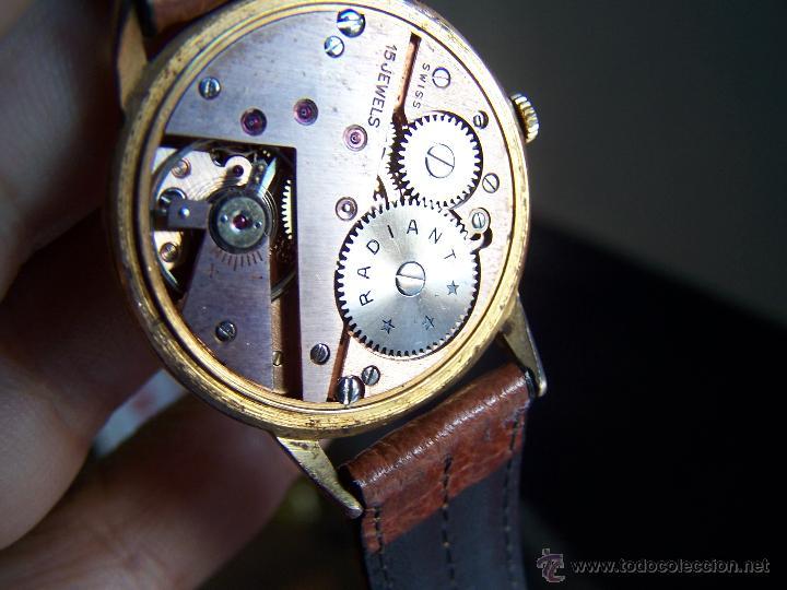 Relojes de pulsera: Precioso y antiguo reloj Radiant de carga manual con estrella de 5 puntas - Foto 40 - 42180956
