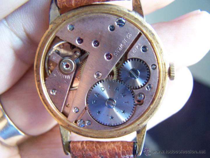 Relojes de pulsera: Precioso y antiguo reloj Radiant de carga manual con estrella de 5 puntas - Foto 42 - 42180956