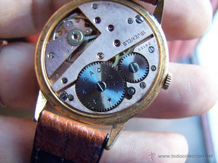 Relojes de pulsera: Precioso y antiguo reloj Radiant de carga manual con estrella de 5 puntas - Foto 43 - 42180956