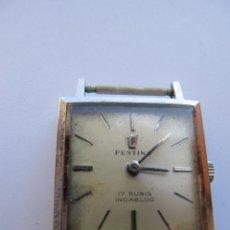 Relojes de pulsera: RELOJ FESTINA 17 RUBIS INCABLOC CARGA MANUAL. Lote 42192787