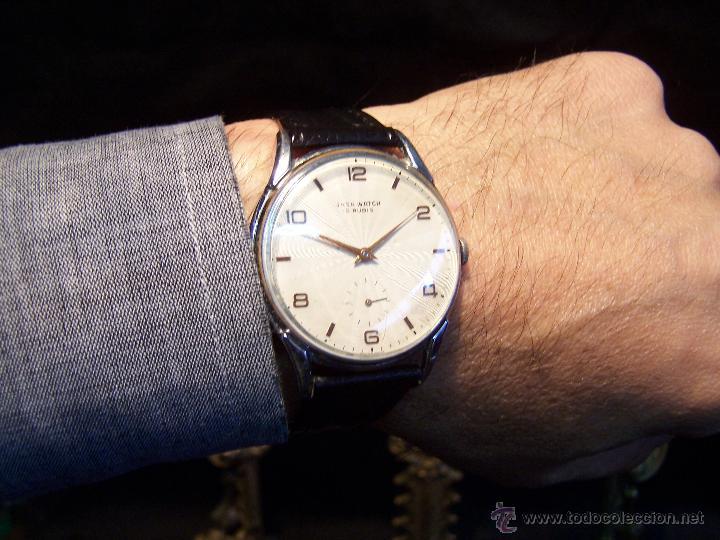 Relojes de pulsera: Reloj grande, de caballero, antiguo, de pulsera y de carga manual, JNSA WACTH OLYMPIC - Foto 2 - 42578749