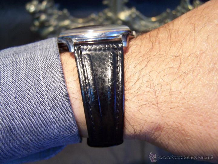 Relojes de pulsera: Reloj grande, de caballero, antiguo, de pulsera y de carga manual, JNSA WACTH OLYMPIC - Foto 4 - 42578749