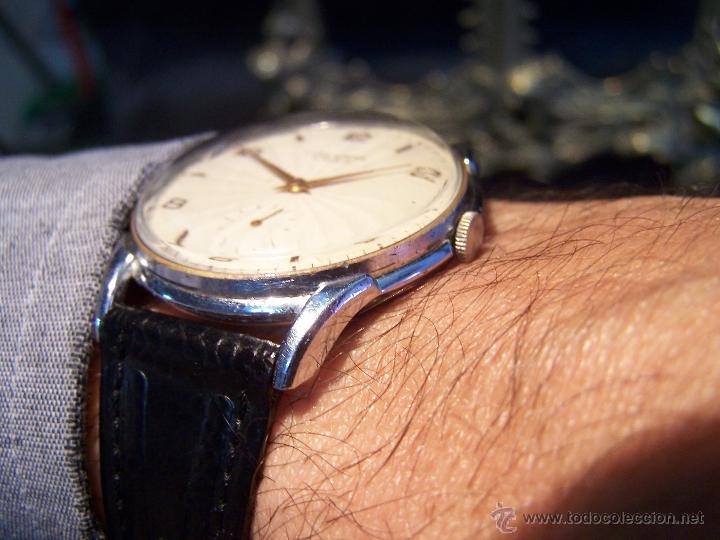 Relojes de pulsera: Reloj grande, de caballero, antiguo, de pulsera y de carga manual, JNSA WACTH OLYMPIC - Foto 6 - 42578749