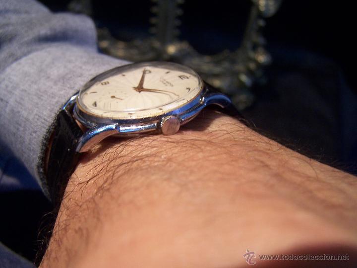 Relojes de pulsera: Reloj grande, de caballero, antiguo, de pulsera y de carga manual, JNSA WACTH OLYMPIC - Foto 7 - 42578749