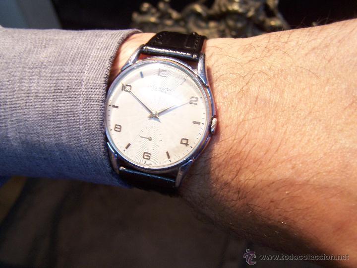 Relojes de pulsera: Reloj grande, de caballero, antiguo, de pulsera y de carga manual, JNSA WACTH OLYMPIC - Foto 10 - 42578749