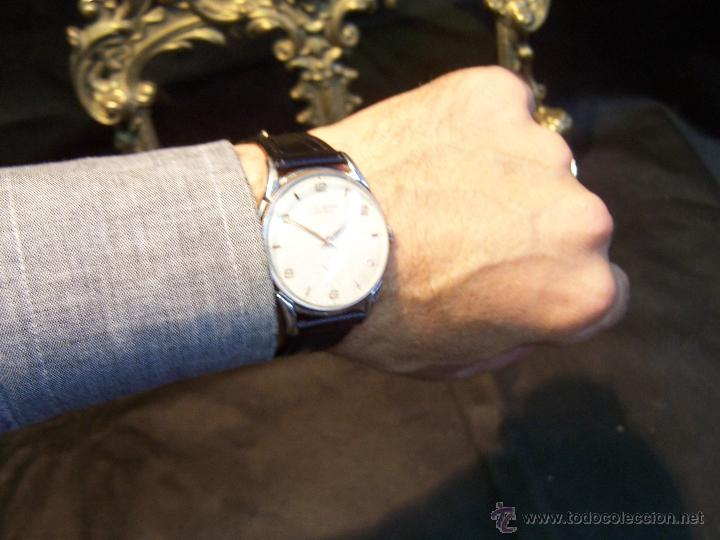 Relojes de pulsera: Reloj grande, de caballero, antiguo, de pulsera y de carga manual, JNSA WACTH OLYMPIC - Foto 11 - 42578749