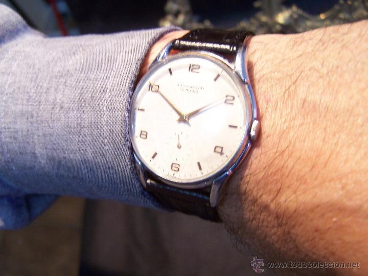 Relojes de pulsera: Reloj grande, de caballero, antiguo, de pulsera y de carga manual, JNSA WACTH OLYMPIC - Foto 12 - 42578749